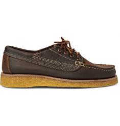 Yuketen Country Ranger Two-Tone Grained-Leather Derby Shoes