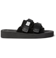 Suicoke Moto-VS Webbing and Suede Sandals