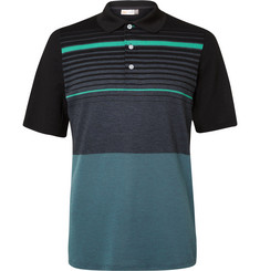 Kjus Golf Stevie Striped Piqué Polo Shirt