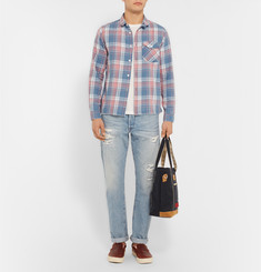 Ron Herman Slim-Fit Checked Cotton-Flannel Shirt