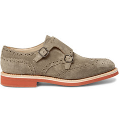 Church's - Kelby Suede Monk-Strap Wingtip Brogues