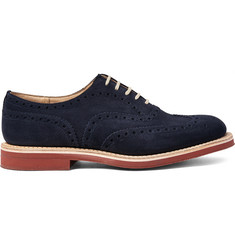 Church's - Downton Suede Wingtip Oxford Brogues