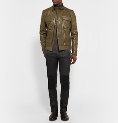 Belstaff Blackrod Coated Stretch-Denim Biker Jeans