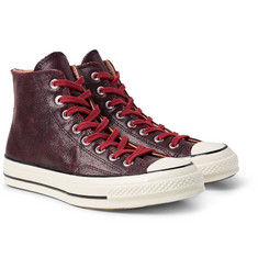 Converse - 1970s Chuck Taylor All Star Textured-Leather High-Top Sneakers