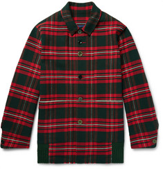 Undercover Checked Cotton-Flannel Shirt Jacket