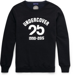 Undercover - Printed Loopback Cotton-Jersey Sweater