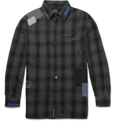 OrSlow - + Beams Slim-Fit Patchwork Cotton Shirt