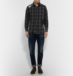 OrSlow + Beams Slim-Fit Patchwork Cotton Shirt