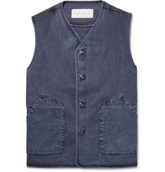 Private White V.C. Washed-Denim Waistcoat