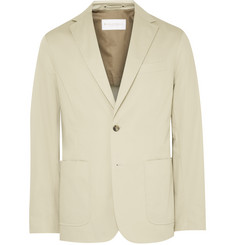 Private White V.C. Beige ECOSEAM® Cotton-Gabardine Blazer
