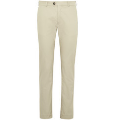 Private White V.C. Beige Slim-Fit ECOSEAM® Cotton-Gabardine Trousers