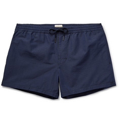 Club Monaco - Arlen Slim-Fit Short-Length Striped Cotton-Blend Swim Shorts