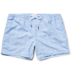 Club Monaco Arlen Slim-Fit Short-Length Gingham Swim Shorts