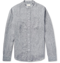 Club Monaco Slim-Fit Grandad-Collar Mélange Slub Linen Shirt