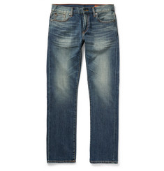 Jean Shop Mick Slim-Fit Washed Selvedge Denim Jeans