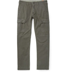 Jean Shop - Gene Slim-Fit Selvedge Cotton-Twill Cargo Trousers