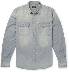 Jean Shop Slim-Fit Washed-Denim Shirt
