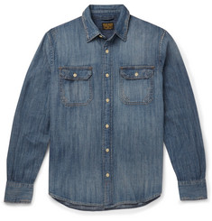 Jean Shop Distressed Denim Shirt