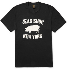Jean Shop - Printed Slub Cotton-Jersey T-Shirt