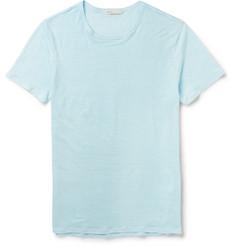 Onia - Chad Slim-Fit Striped Linen T-Shirt