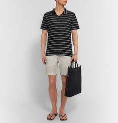 Onia Shaun Slim-Fit Striped Linen Polo Shirt