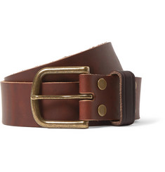 Jean Shop 4cm Brown Leather Belt
