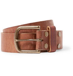 Jean Shop - 4cm Tan Leather Belt