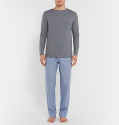 Zimmerli Gingham Cotton-Jacquard Lounge Trousers