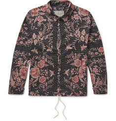 By Walid - Joel Drawstring-Hem Printed Cotton Shirt