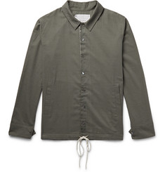 By Walid - Drawstring-Hem Cotton-Voile Overshirt