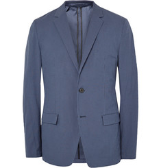 Theory - Blue Simons Slim-Fit Gingham Stretch Cotton-Blend Blazer