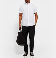 Theory - Coppolo Slim-Fit Graph-Checked Cotton-Poplin Shirt