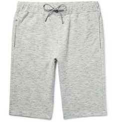 Theory - Moris Mélange Loopback Cotton-Jersey Shorts