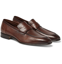 Santoni - Leather Penny Loafers
