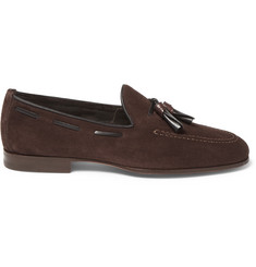 Santoni - Tasselled Suede Loafers