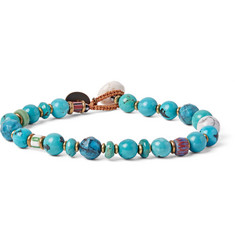 Mikia - + United Arrows Turquoise, Howlite and Glass Bead Bracelet