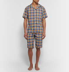 Sleepy Jones - Scully Madras-Checked Cotton Pyjama Shorts
