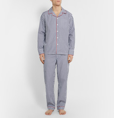 Sleepy Jones - Henry Striped Cotton Pyjama Shirt