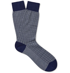 Pantherella Tenison Egyptian Cotton-Blend Socks