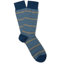 Pantherella - Furley Striped Merino Wool-Blend Socks