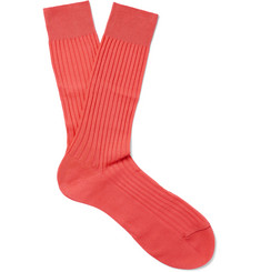 Pantherella - Ribbed Cotton-Blend Socks