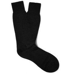 Pantherella - Hemingway Ribbed Wool-Blend Socks