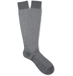 Pantherella Tewkesbury Birdseye Cotton-Blend Socks