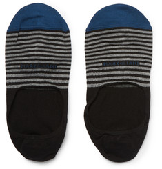 Marcoliani Striped Pima Cotton-Blend No-Show Socks