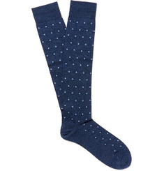 Marcoliani - Polka-Dot Pima Cotton-Blend Socks