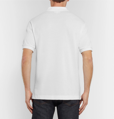 Lacoste tall short sleeve classic pique polo white for Lacoste big and tall polo shirts