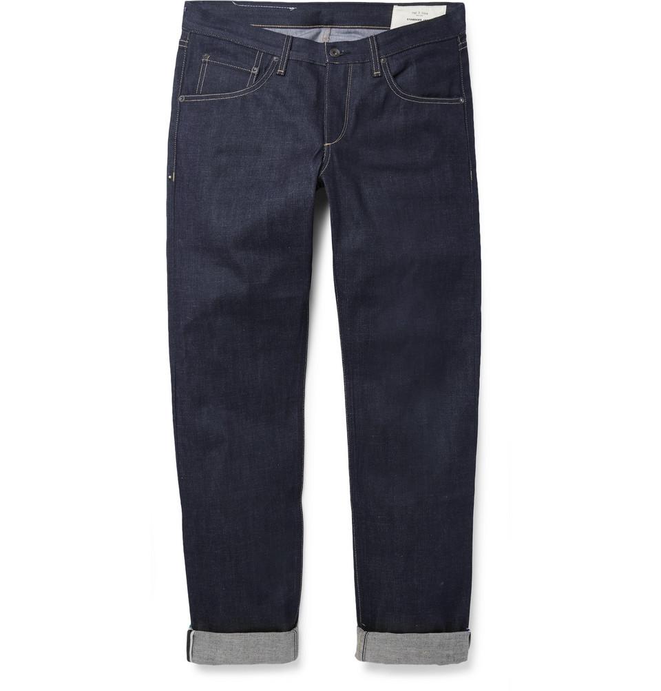 rag & bone Fit 2 Slim-Fit Raw Selvedge Denim Jeans
