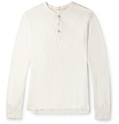 Rag & bone - Cotton-Jersey Henley T-Shirt