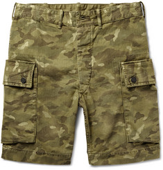 RRL Camouflage-Print Washed-Cotton Cargo Shorts
