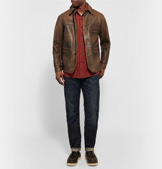 RRL - Barringer Burnished-Leather Jacket